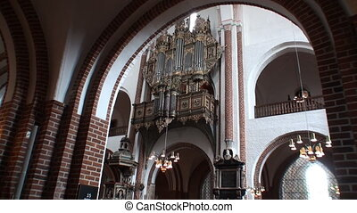 Church organ - The church organ at Roskilde Cathedral,...