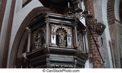 Pulpit in a church - Pulpit in Roskilde Cathedral, Denmark