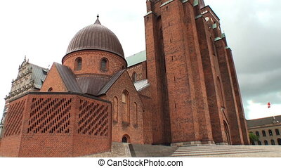 Roskilde cathedral - Exterior of the romanesque Cathedral of...