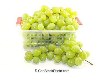 Delicious grapes isolated on white background