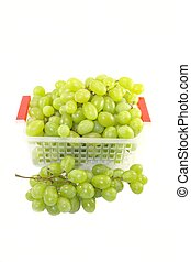 Fresh juicy grapes isolated on white