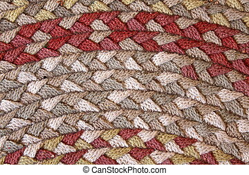Pattern of colorful braided rug - Colorful pattern of...