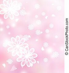 Blossoms pastel pink illustration - Chrysanthemum Blossoms...