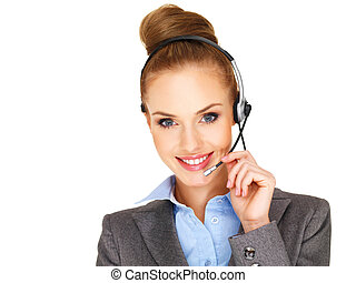 Beautiful receptionist or secretary - Beautiful smiling...