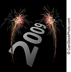 2009 celebration firework - image of an explosion of a...