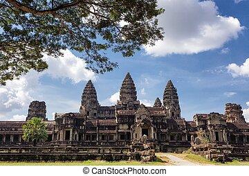 Angkor wat temple north entrance, Cambodia