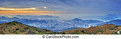 Sunrise in Hillside - Sunrise in Victoria Harbour and Tsuen...