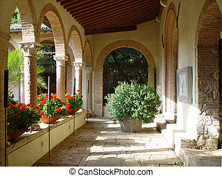 Ancient monastery that was converted to a luxury hotel in...