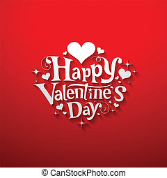 Happy valentine day message banner design, vector...