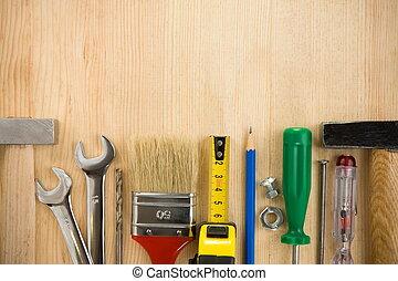 madera, herramientas, tabla, Plano de fondo