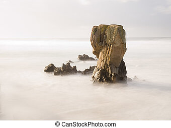 Big rock on sea - Big rock on the sea in a long exposure...
