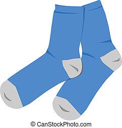 azul, calcetines