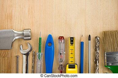 木頭, 工具, 背景