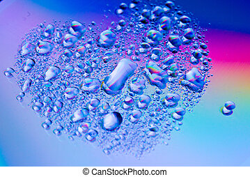 abstract water on reflex light effect