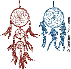 Dream catchers doodle - Illustration of dream catchers -...