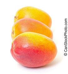 Few Fresh Mango on a white background