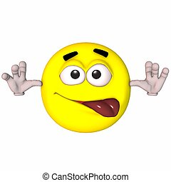 3D Smiley - 3D Render of an Toon Smiley