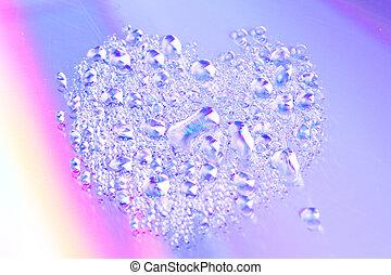 abstract water on reflex light effect