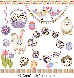 Easter digital elements