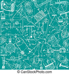 Physics seamless pattern - Seamless pattern background -...