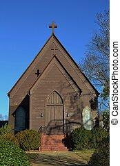 A Quaint Old Wooden Church - A quaint, old, wooden church...