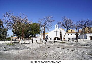 Miasto, Huelva, Drzewa, Zima