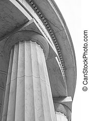 Stone Pillar and Dome on White