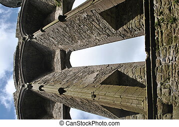Window of Medieval Cathedral Ruins, Rock of Cashel, Ireland
