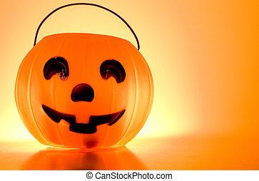 Jack-O-Lantern - A Jack-O-Lantern trick or treat bucket...