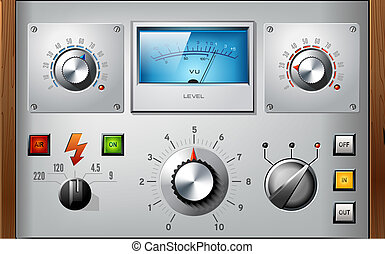 Analog controls interface elements vector set - Analog...