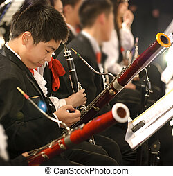 bassoon boy in concert