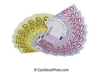 ventilatori, euro, 200, 500, banconote