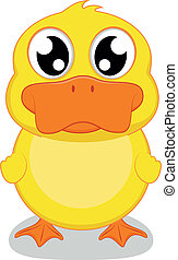 Cute Little Duck - Vector Illustrator Cute Little Duck