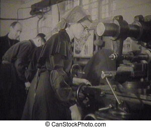 Workers of the USSR at the factory Newsreel