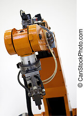 Industrial Robot - Closeup of a Robot used in Manufacturing...