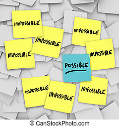 possible, vs, impossibilité, Collant, notes, fond