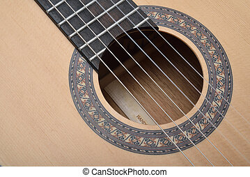 Sound hole of classic guitar - Decorated Sound hole of...