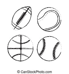 Play Ball - Play ball over white background vector...