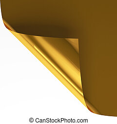 Gold page curl