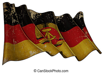 East Germany Flag Scratched