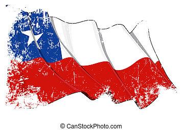 Chilean Flag Grunge