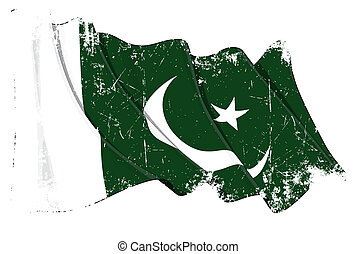 Pakistani Flag Grunge