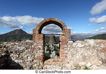 Old ruin in town Gaucin, Andalusia, Spain