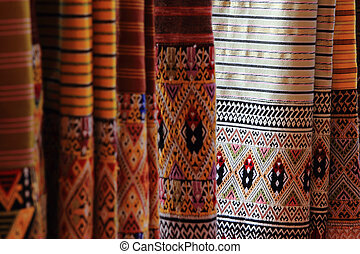 Thai style pattern on Thai cloth
