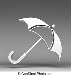 3d umbrella icon
