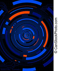 digital connection neon - Abstract illustration of a digital...