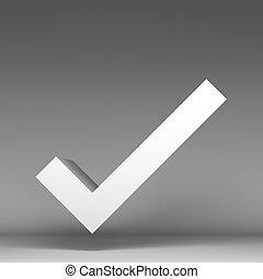 3d correct icon