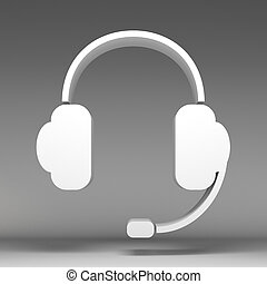 3d headphone icon
