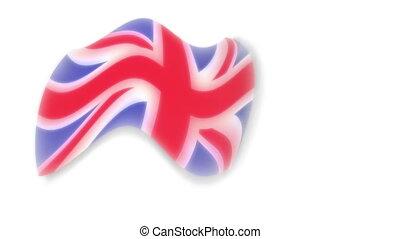 Flag - england - background - Animation on emblems - Flag -...