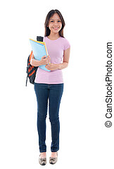 malay asian student standing